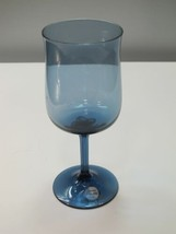 Lenox wine glass blue Mist hand blown - $20.43