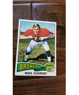 1975 Topps Signed Card Mike Power Broncos Dolphin Buccaneers Ohio State - $60.34