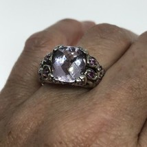 Vintage Purple Amethyst Ring Pink Tourmaline 925 Sterling Silver - €111,40 EUR