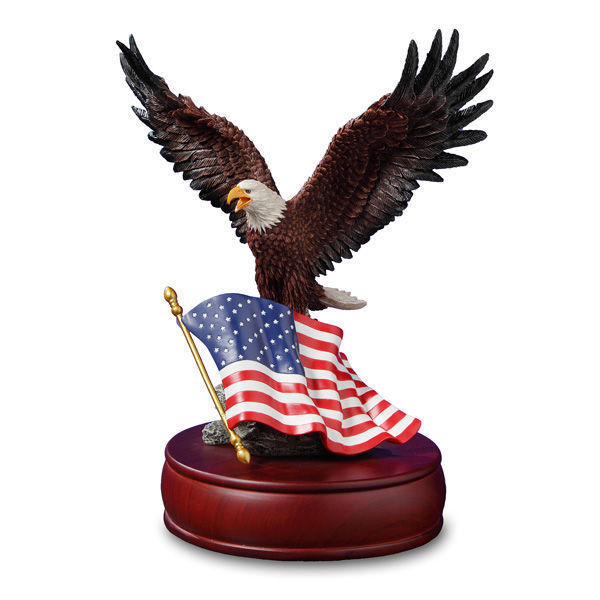San Francisco Music Box Co. American Eagle Figurine Music Box