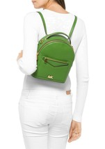 Michael Kors Jessa Small Convertible Backpack Green Leather $268 - $178.19