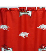 Arkansas Razorbacks Shower Curtain Cotton Sateen Fabric - $39.90