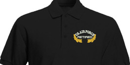 US AIR FORCE Retired with Oak leaves Embroidered Polo Shirt Embroidered gift - $29.95+