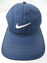 Nike Golf Navy Blue Silver Adjustable Adult Cap Hat - $13.85