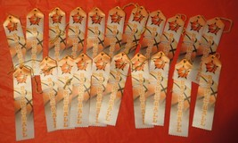 """Lot of 21 Carded Basketball Award Ribbons 2"""" x 8"""" - $15.83"""