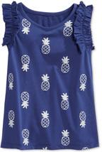 Epic Threads Little Girls' Pineapple-Print Tank, Blue Print, Size 6X - $9.49