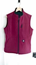 Carhartt Women's Size Medium Soft Shell Water Resistant Vest Burgundy - $31.68