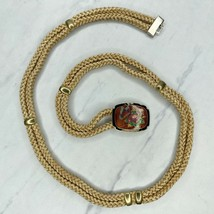 Vintage Floral Butterfly Buckle Rope Belt Size Small S - $18.37