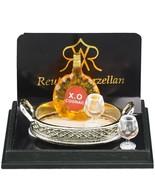 Cognac on Metal Tray w Brandy Glasses 1.620/5 Reutter Dollhouse Miniature - $23.45