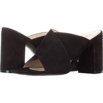 Cole Haan Gabby Open Toe Mule Sandals 065, Black, 5.5 US - $47.03