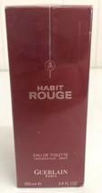 Habit Rouge for Men by Guerlain edt 3.4 oz  Spray New in Box Sealed - $46.74