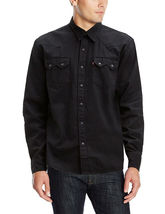 Levi's Classic Casual Denim Black Sawtooth Western Shirt Color Black 658190098 image 3