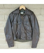 AMF Harley Davidson Womens Jacket Leather Riding XS size 32 Brown Motorc... - $148.46