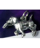 NICE Loyal dog carrying newspaper for master charm St Silver - $20.95