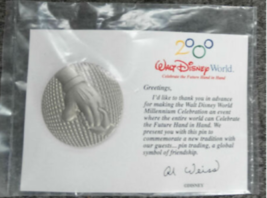 Cast  Member Celebrate The Future Hand In Hand Authentic Disney EPCOT pin - $14.99
