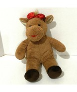 """Build a Bear Plush Cow 16"""" Brown Red Lips Bow Baby Calf Kids Toy BABW Va... - $15.80"""