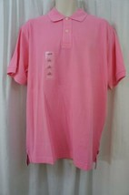 Izod Mens Casual Shirt Sz L Sachet Pink Solid Polo Signature Solid Cotton - $19.71