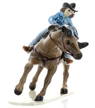 Hagen-Renaker Specialties Ceramic Horse Figurine Rodeo Barrel Racer - $49.96