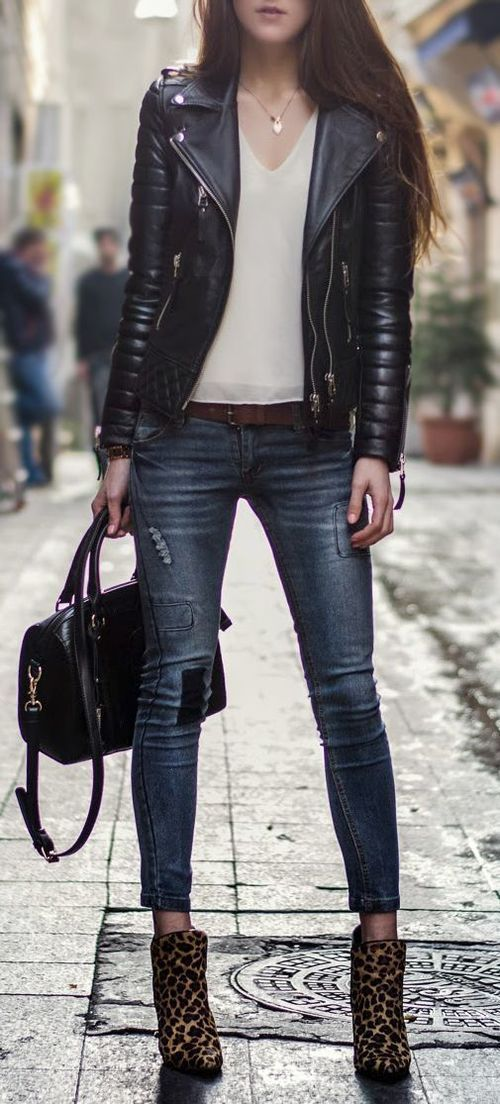 WOMEN BIKER MOTORCYCLE CASUAL SLIM FIT RIDER REAL GENUINE  LEATHER JACKET-A34