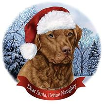 Holiday Pet Gifts Chesapeake Bay Retriever Red Dog Santa Hat Porcelain O... - $18.34