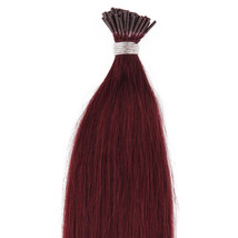 """22"""" Remy Pre bonded I Tip Human Hair Extensions Professional Salon Color # 99J B - $129.99"""