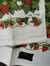 LOT vintage 2 UNUSED lois long STRAWBERRY LINEN KITCHEN TOWELS kaydee ta... - $68.95