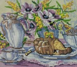 Floral Needlepoint Kit Lilac Margot de Paris Bouquet Vase PROJECT MultiC... - $19.95