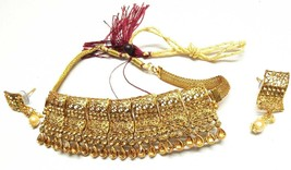 Indian 22K Gold Plated Bollywood Women Jewellary Gorgeous Necklace Earri... - $11.88