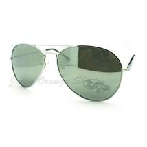 Classic Aviator Sunglasses Thin Metal Silver Mirror Lens Unisex - $6.19