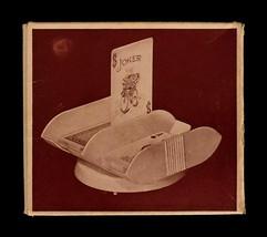 Vintage Sanford Turn-N-Play Canasta Card Tray With Box Maroon  - $8.99