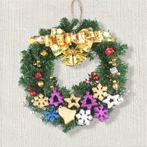50cm Gold Bell Bow Hanging Wreath Christmas Party Decoration Wall Orname... - $37.99