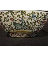 Two Square Bowls Ceramicas de Coimbra. Portugal Hand Painted and Signed - $11.90