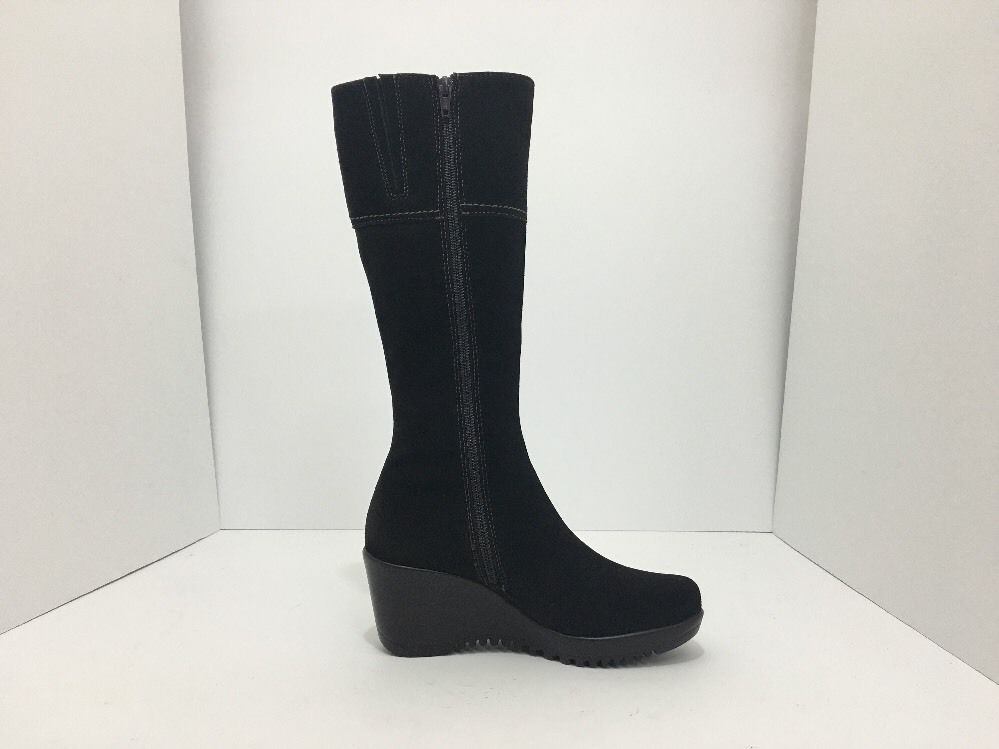 La Canadienne Galaxy Brown Suede Women's Knee High Platform Wedge Heel Boots 5 M image 5