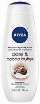 NIVEA Care and Cocoa Butter Moisturizing Body Wash, 16.9 Fluid Ounce - $11.87