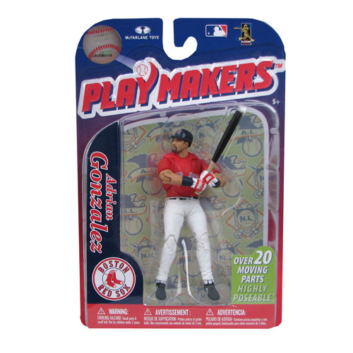 Primary image for Adrian Gonzalez Boston Red Sox Playmakers Figure NIB MLB 2011 McFarlane Series 3