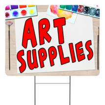 """Art Supplies  24"""" x 18"""" Double Sided Road Yard Sign: Heavy Duty Stake - $35.00"""