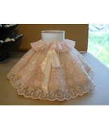 Princess Girls Table Desk Lamp Pink Lace Plastic Ruffle Shade Only for B... - $8.99
