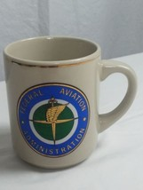 Vtg GENUINE US FAA Federal Aviation Administration Ceramic Tea Cup Coffe... - $24.99