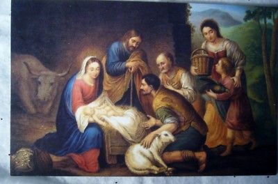 10 Old World Christmas, Nativity Scene,  NEW