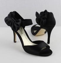 sandals black 6M Marino size women's matte shoes heels Ann dress slingback gOR7Ww