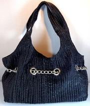 Kenneth Cole Reaction Women's Black Elektra Puff Shopper Bag PVC New  - $62.95