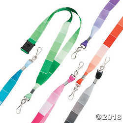 Paint Chip Lanyards