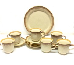 Mikasa Tea Cups, Saucers, Dinner Plate E8000 Whole Wheat Made In Japan 1... - $87.29