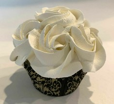 Ivory Rosette Cupcake  Fake Faux Cupcake - Decoration for Home - $8.41