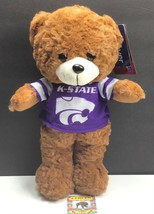 K-State Wildcats NCAA / Plush Teddy Bear w Purple Jersey / Stuffed Anima... - $16.97