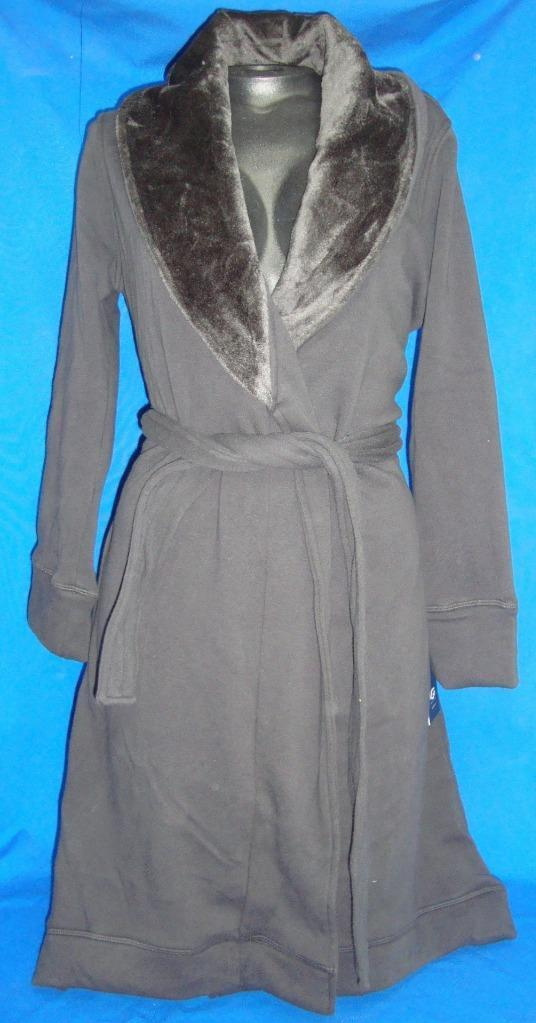 Primary image for UGG Australia DUFFIELD Charcoal Plush Robe Size Med NEW Retail $125 Super Soft
