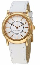 BRAND NEW Marc Jacobs Riley White Leather Rose Gold Tone Ladies Watch MJ8674 - $84.88