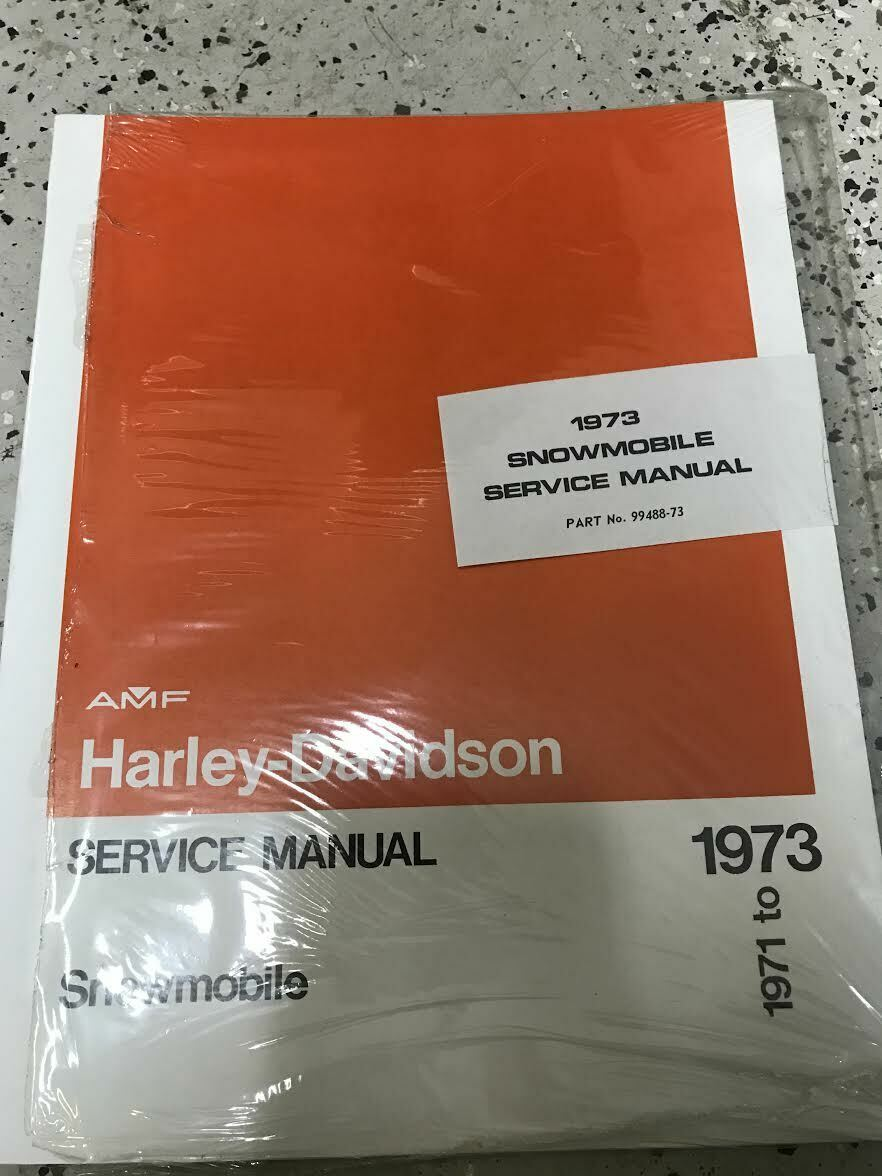 Primary image for 1971 1972 1973 Harley Davidson Snowmobile Service Shop Repair Manual