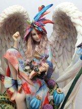 "Ebros Sanctuary Sheila Wolk Angel Statue 8.5""Tall Angelic Beauty In Wildlife Nat - $49.98"