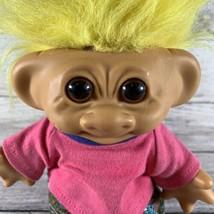 "Troll Doll Bank Yellow Hair Brown Eyes 6""  - $29.69"